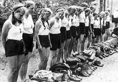"""The National Socialist Womens League (German: Nationalsozialistische Frauenschaft, abbreviated """"NS-Frauenschaft"""") was the womens wing of the Nazi Party."""