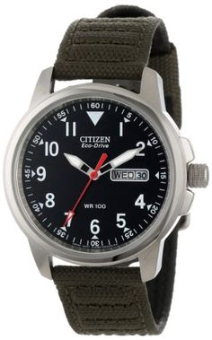Buy Citizen Watches cheap price Eco Drive Canvas Strap Watch for men including a date indicator and Water-resistant to 100 m feet Casual Watches, Cool Watches, Watches For Men, Dream Watches, Women's Watches, Citizen Eco, Field Watches, Sport Watches, Watch Companies