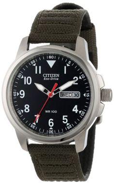 """Citizen Men's BM8180-03E """"Eco-Drive"""" Canvas Strap Watch Citizen,http://smile.amazon.com/dp/B000EQS1JW/ref=cm_sw_r_pi_dp_PRSmtb119ER72WG3"""