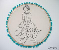 My Own Landscape Dreams: Novidades na Loja Landscape - Ilustração Jane Eyre, agora com bastidor!