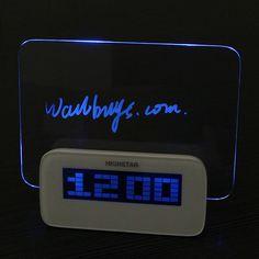 HSD/HighStar 1140A Digital Clock Message Board Alarm Clock Message Board, Digital Alarm Clock, Messages, Led, Lights, Tack Board, Lighting, Text Posts