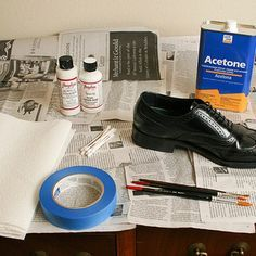 "another tip for my ""attempt"" to paint cowboy boots oPainting Leather Shoes (or other leather stuff)"