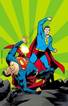 Golden Age Superman vs. Modern Superman by Kevin Nowlan