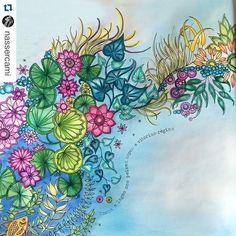 #Repost @nassercami with @repostapp. ・・・ Na onda da arte #jardimsecreto #jardimsecretotop #jardimsecretoinspire #secretgarden #coloringbook