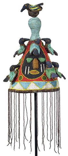 Yoruba hat from Nigeria African Culture, African History, African Masks, African Art, Zulu, African Crown, Statues, National Museum, National Mall