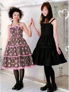2 Lolita Dresses Sewing Pattern PDF English templates names Japanese Street Fashion, Knit Fashion, Women's Fashion, Kawaii Clothes, Dress Sewing Patterns, Lolita Dress, Lolita Fashion, Top Pattern, Beautiful Dresses