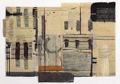 Michael Harris: mixed media on paper, waxed thread