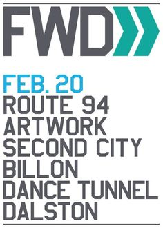FWD feat. Route 94 | Dance Tunnel | London | https://beatguide.me/london/event/dance-tunnel-fwd-with-route-94-artwork-20140206