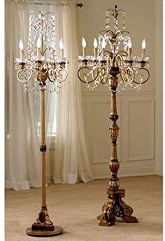 Chandelier Floor Lamp, Chandelier Makeover, Chandelier Lighting, Floor Lamps, Floor Lamp Shades, Lamp Makeover, Chandeliers, Best Desk Lamp, Pergola