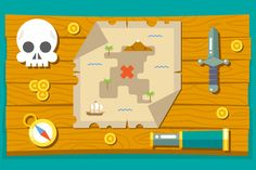 Pirate Adventure Treasure Map by Meilun on Creative Market