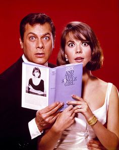 Natalie Wood & Tony Curtis Reading, 'Sex and the Single Girl'