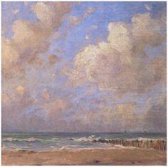 Zonnig zeegezicht, Domburg, Emmanuel Viérin, ca. 1917