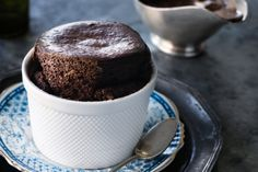 Get your chocolate and caffeine fix all in this winter warming souffle dessert.
