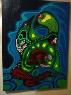 by Moses Amik Beaver kp Native Art, Native American Art, Aboriginal Artists, Nativity, Random Stuff, Image, Birth, Aboriginal Art