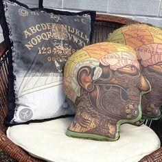 Phrenology Head Cushion, Non-Believer, Ramon Maiden Cushion
