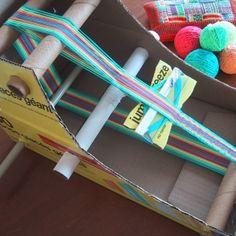 The DIY Cardboard Box Inkle Loom