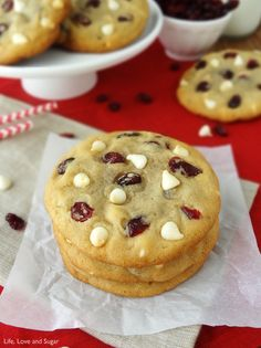 Moist and Chewy Cranberry White Chocolate Chip Cookies