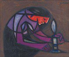 Ladislav Guderna - Žena pri sviečke