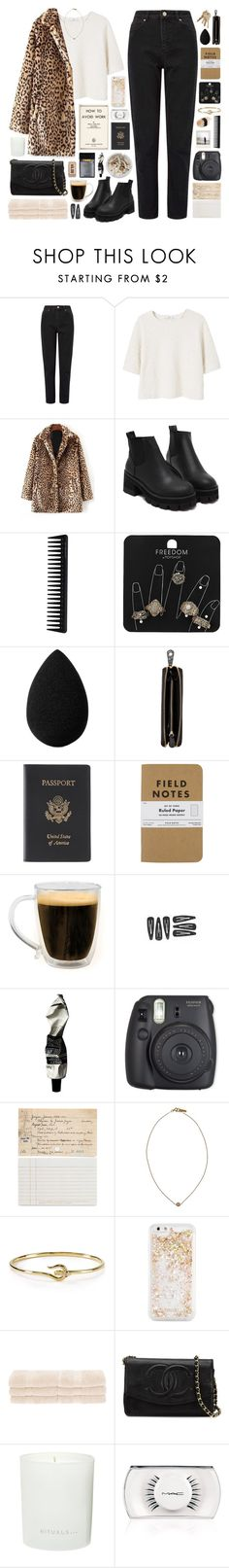 """""""060117"""" by rosemarykate ❤ liked on Polyvore featuring Ash, Miss Selfridge, MANGO, GHD, Topshop, beautyblender, Nomadic, Royce Leather, Polaroid and Primula"""
