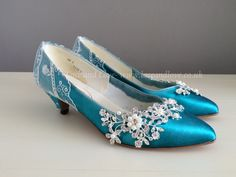 Vintage shoes revamped! We dyed these and made them beautiful to give them a new lease of life.