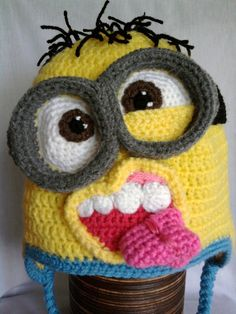 Despicable me inspired minion hats  Made to by MistybelleCrochet