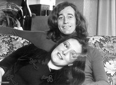 Singer Robin Gibb (R) from the 'Bee Gees' with his wife Molly Gibb in Melbourne, Victoria.