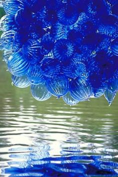Beautiful blue glas