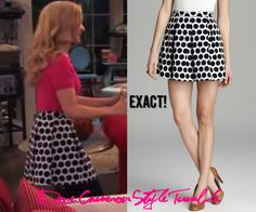 "Dove (as Liv) wore this polka dot skirt in ""Howl-A-Rooney"" French Connection Fast Sylvie Spotted Skirt Sold out"