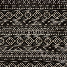 "Black Oatmeal Diamond Ethnic Hacci Sweater Knit Fabric :: Ethnic rows with diamonds in black and oatmeal Hacci sweater knit.  Fabric is a light to mid weight tighter weave with a soft hand and nice stretch.  2"" black diamond eye for scale.  Great for sweaters, tops, cardigans, beanies, scarves, shawls, and much more!  ::  $7.00"