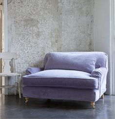 double lounge~mother & daughter chaise lounge w/ velvet fabric