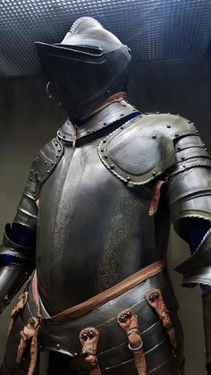 Armor for use in the field made in Milan Italy perhaps for Sir William Herbert First Earl of Pembroke 1550 CE Etched and partially gilded steel (3), via Flickr.