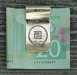 Mon Money Clip handcrafted by MonOmania Eh (a division of Whispering Elms Studio) Niagara Region, Jewelry Branding, Whisper, Artisan Jewelry, Unique Jewelry, Personalized Items, Studio, Money Clips, Key Chains