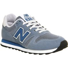 New Balance M373 Trainers ($78) ❤ liked on Polyvore featuring shoes, sneakers, grey blue, trainers, unisex sports, gray shoes, grey shoes, sport shoes, new balance shoes and new balance footwear