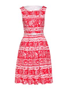 Provence Prom Dress   White And Red   Dress