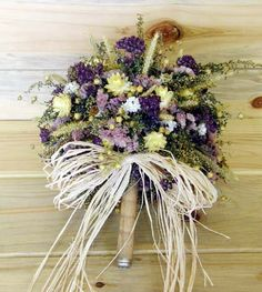 dried flower bouquet with twine