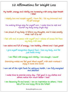12 Affirmations For Weight Loss
