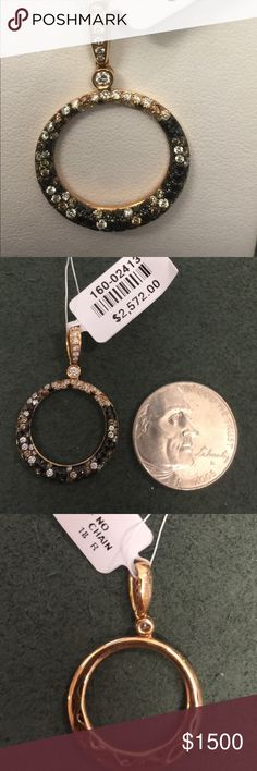Doves 18kt rose gold circle diamond pendant brand-new and authentic 18 karat rose gold diamond pendant by the designer Doves Jewelry.   39 round brilliant cut diamonds with a total weight of .34 ctw of SI quality.   Chain not included comes with a formal appraisal Doves Jewelry Necklaces
