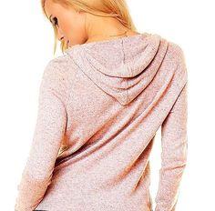 Damen  Angora Strickjacke Cardigan Pullover  Jacke Kapuze rosa Neu Gr.S