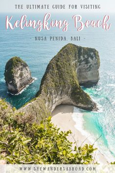 The Ultimate Guide for Visiting Kelingking Beach in Nusa Penida! Have you ever heard of this T-Rex shaped beach in Nusa Penida? Click here to read everything you need to know about the famous Kelingking Beach! Don't forget to save it for later! | How to reach Kelingking Beach | When to visit Kelingking Beach | What to expect at Kelingking Beach | #bali #nusapenida #kelingking #kelingkingbeach #travel #traveltips #bucketlist