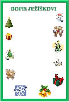 Dopis Ježíškovi ke stažení s vytisknutí - šablona vzor! Zdarma k vytištění šablony dopisu Ježíškovi #vánoce #hvězda #dekorace #cukroví #stromeček #dárky #tvoření #děti #rodina #tip3dmamablog, DALŠÍ TIPY  www.3dmamablog.cz Holidays And Events, Christmas Decorations, European Countries, Czech Republic, Ss, Cards, Christmas Decor, Ornaments, Map
