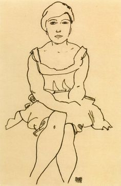 Egon Schiele, Sitting Woman, 1918.