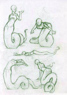 Sketches_nagas by AshiPhoenix.deviantart.com on @deviantART