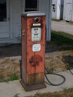 Vintage Gas Pump with Bubble by The Upstairs Room, via Flickr