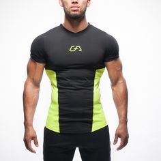 2016 New Gym Fashion Athletic Compression Slim Fit Men's T shirt Bodybuilding…
