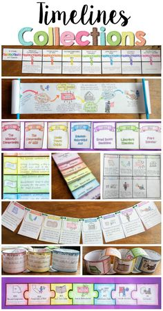 foldable timelines | Timeline Project Ideas | Teaching | Pinterest ...