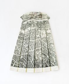 map dress - saw one like this in Cambridge in 2010, have forgotten the name of artist.  anyone?
