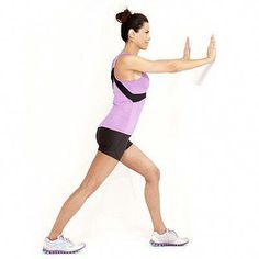 Prevent knee pain by working these healthy knee exercises into your workout routine. Shin Splint Exercises, Knee Strengthening Exercises, Calf Exercises, Calf Stretches, Shin Splints, Flexibility Exercises, Stretching Exercises, Sore Knees, How To Strengthen Knees