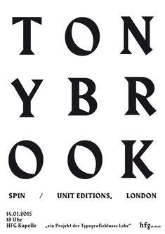 "typeclass-of-hfg: ""poster »tony brook«, anne krieger, typeclass of hfg, 2015 """