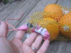 make a reusable produce bag from mesh bag More