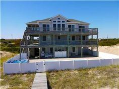 """Tucs Beachin OBX House"" is the ultimate home on the beautiful 4x4 beaches of Carova! Stunning ocean views will overwhelm you when you ..."